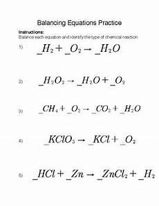 balancing chemical equations practice by kiel kietlinski tpt