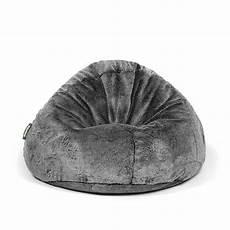 Pushbag Bag500 Pouf Poire Geant Fourrure Noir Edition