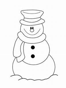 simple snowman coloring pages printable