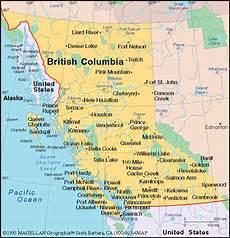 columbia canada emblems map