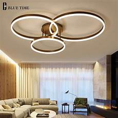 Led Deckenleuchte Esszimmer - rings modern led ceiling light for living room bedroom