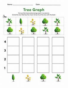 cut out graph trees worksheet education com