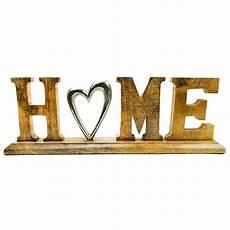 deko schriftzug deko schriftzug home aus holz mangoholz alu dekoration