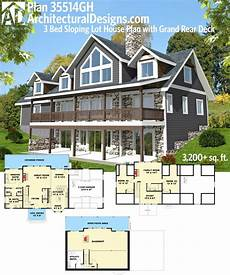 sloping lot house plans hillside 80 best homes for the sloping lot images on pinterest