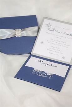 wedding invitation royal blue and silver wedding invitation wonderland invitation couture