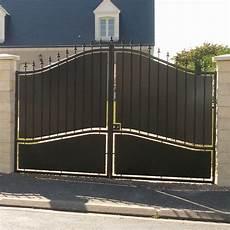 Portail Maison Leroy Merlin Portail Battant Fer Tangara Noir L 350 Cm X H 212 Cm
