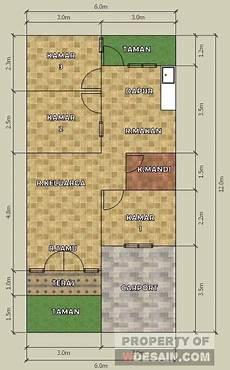 Denah Rumah Minimalis 3 Kamar Tidur Type 36 Desain Rumah