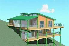 sloping hill house plans image result for how to build on a sloping hill and have a