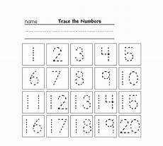 tracing numbers for kg learning printable