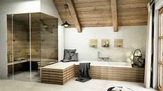 Bad Landhausstil Mosaik Badezimmer Design Ideen Holz Mit