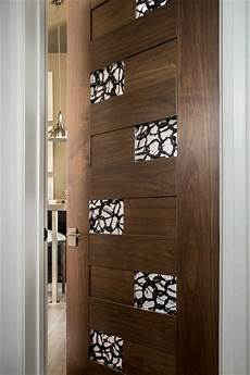 las vegas modern home interior solid wood walnut door with glass modern bathroom denver