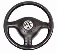 3 spoke black leather sport steering wheel 99 02 vw cabrio