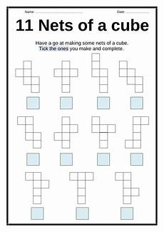 nets of a cube activity by lresources4teachers teaching resources