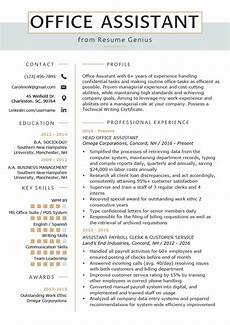 office assistant resume exle writing tips resume genius