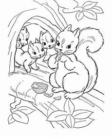 woodland animals coloring pages free 17189 animal coloring pages squirrel family coloring page and activity sheet honking