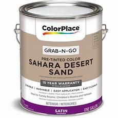 colorplace grab n go interior paint satin finish desert sand 1 gallon walmart com