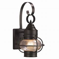 shop portfolio 124 in h rustic brown outdoor wall light at lowescom oregonuforeview