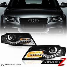 2009 2012 audi a4 s4 b8 euro spec conversion black led drl projector headlight ebay
