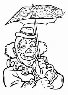 n 13 coloring pages of clowns
