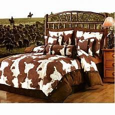 western cowboy bedding cowhide print western bedding ensemble full monstermarketplace com