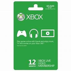 xbox live 12 month subscription card lowest price