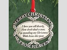 merry christmas in heaven ornament