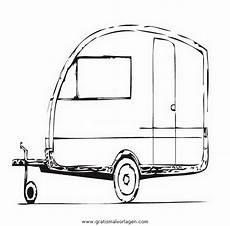 Malvorlagen Kostenlos Wohnwagen Wohnwagen 2 Gratis Malvorlage In Lastwagen