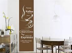 wandtattoos küche esszimmer wandtattoo banner kaffeesorten wandbanner wandtattoo de
