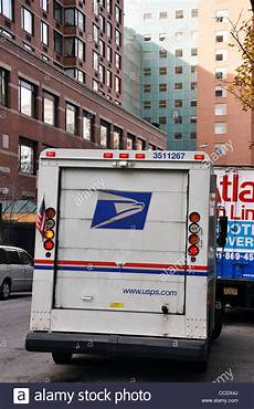 City Usps by Us Post Office Usps Truck New York City Usa Stock Photo
