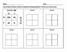 multiplication worksheets box method 4331 box and cluster multiplication by rumans creations tpt