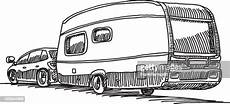 Malvorlagen Auto Mit Wohnwagen Car Caravan Cing Trailer High Res Vector Graphic