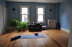with hardwood flooring and a minimalist design you can bring the serenity of the yoga studio