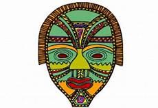 Afrikanische Muster Malvorlagen Pdf Masken Bilder Zum Ausmalen