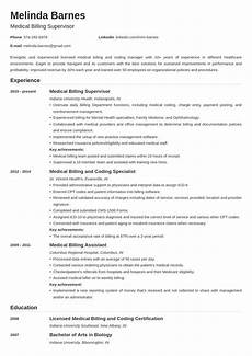 medical billing resume exle template nanica in 2020