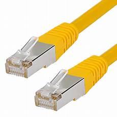 lenkabel mit schalter cat 6 patchkabel rj45 lan kabel s ftp pimf gelb 0 25 m