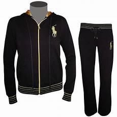 polo ralph damen trainingsanzug schwarz gold