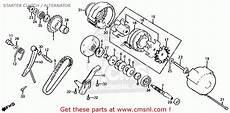 honda cb700sc 1984 nighthawk s usa starter clutch alternator schematic partsfiche