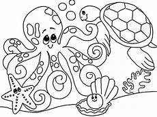 Unterwasser Tiere Malvorlagen Schoene Unterwasserwelt Ausmalbilder Dekoking 1