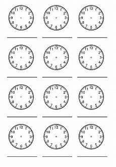 Ausmalbilder Uhr Mit Zeiger Uhrzeit Lernen Grundschule Zifferblatt Ausdrucken In
