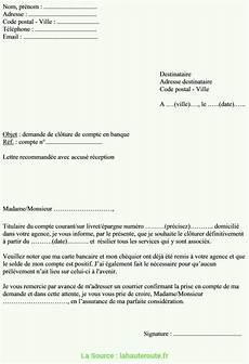 Exemples De Mod 232 Les Lettre Cloture De Compte
