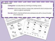 atoms molecules elements compounds worksheet by