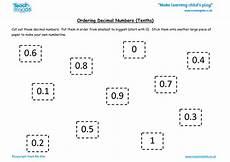 decimals smallest to largest worksheets 7203 ordering decimal numbers tenths tmk education