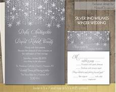 winter wedding invitations silver snowflake by notedoccasions