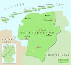 Ostfriesische Inseln Karte - leybucht