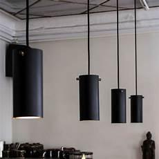 volume pendant light black brass