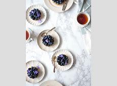 Passion Fruit and Blackberry Jellies with Lemon Verbena Cream image