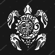 Maorie Schildkröte - schildkr 246 te maori stil auf einem schwarzen