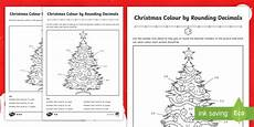 christmas themed colour by rounding decimals