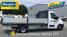 but location camion berger location camion plateau ridelles 3t5