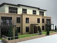 3 takes on modern apartment 3d model of 3 storey apartment modern